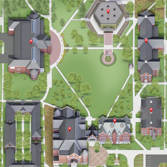 Rendering of the campus map.